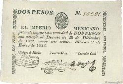 2 Pesos MEXIQUE  1823 P.002a pr.SUP
