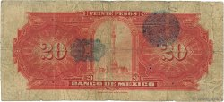20 Pesos MEXIQUE  1922 P.023d B