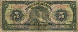 5 Pesos MEXIQUE  1937 P.034a B
