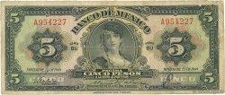 5 Pesos MEXIQUE  1949 P.034k pr.TB