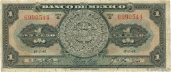 1 Peso MEXIQUE  1945 P.038c B+