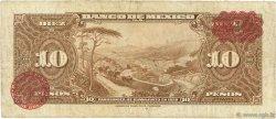 10 Pesos MEXIQUE  1950 P.047e TB