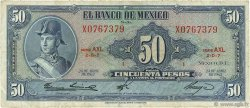 50 Pesos MEXIQUE  1963 P.049o TB