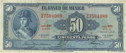50 Pesos MEXIQUE  1965 P.049p TB+