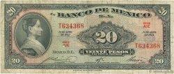 20 Pesos MEXIQUE  1963 P.054k B+