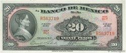 20 Pesos MEXIQUE  1967 P.054m NEUF