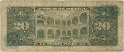 20 Pesos MEXIQUE  1969 P.054n B