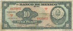 10 Pesos MEXIQUE  1961 P.058h B+