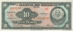 10 Pesos MEXIQUE  1965 P.058k SPL
