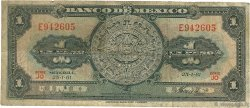1 Peso MEXIQUE  1961 P.059g B