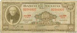 100 Pesos MEXIQUE  1970 P.061e B