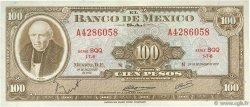 100 Pesos MEXIQUE  1972 P.061h pr.NEUF