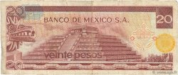 20 Pesos MEXIQUE  1972 P.064a TB