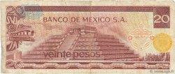 20 Pesos MEXIQUE  1972 P.064a TB