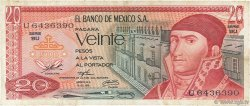20 Pesos MEXIQUE  1976 P.064c TB