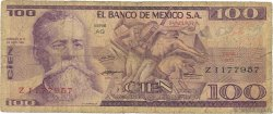 100 Pesos MEXIQUE  1974 P.066a B