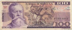 100 Pesos MEXIQUE  1981 P.074a TB
