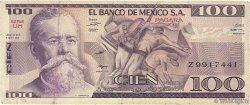 100 Pesos MEXIQUE  1981 P.074b TB