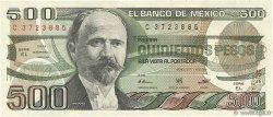 500 Pesos MEXIQUE  1984 P.079b SUP