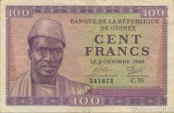 100 Francs GUINÉE  1958 P.07 pr.SUP