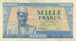 1000 Francs GUINÉE  1958 P.09 TTB