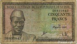 50 Francs GUINÉE  1960 P.12a B+