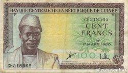 100 Francs GUINÉE  1960 P.13x TTB