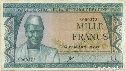 1000 Francs GUINÉE  1960 P.15a TTB