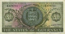1 Pound GUERNESEY  1969 P.45b TTB+