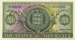 1 Pound GUERNESEY  1969 P.45b SPL