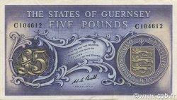5 Pounds GUERNESEY  1969 P.46c TTB à SUP