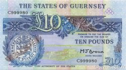 10 Pounds GUERNESEY  1980 P.50b NEUF