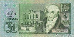 1 Pound GUERNESEY  1991 P.52b TTB