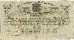 5 Pounds JERSEY  1841 P.A01 SPL