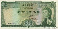 1 Pound JERSEY  1963 P.08b SUP+