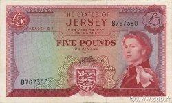 5 Pounds JERSEY  1963 P.09b SUP