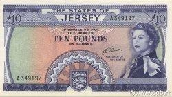 10 Pounds JERSEY  1972 P.10a NEUF