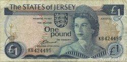 1 Pound JERSEY  1976 P.11a TB