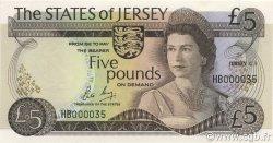 5 Pounds JERSEY  1983 P.12b NEUF