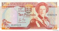 10 Pounds JERSEY  1989 P.17a pr.NEUF