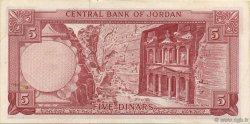 5 Dinars JORDANIE  1959 P.15a SUP