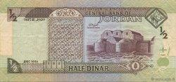 1/2 Dinar JORDANIE  1995 P.28a TTB+