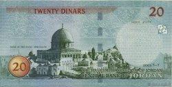 20 Dinars JORDANIE  2002 P.37a SUP