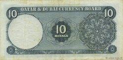 10 Riyals QATAR et DUBAI  1960 P.03a TTB