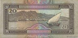 20 Rials YÉMEN - RÉPUBLIQUE ARABE  1990 P.26b TTB+