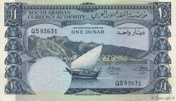 1 Dinar YÉMEN RÉPUBLIQUE DÉMOCRATIQUE  1965 P.03b SUP