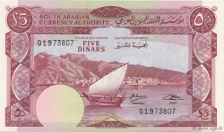 5 Dinars YEMEN DEMOCRATIC REPUBLIC  1965 P.04b aUNC