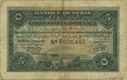 5 Piastres SYRIE  1919 P.001a TB