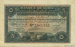 5 Piastres SYRIE  1919 P.001b TTB