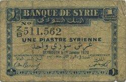 1 Piastre SYRIE  1920 P.006 B
